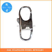 Fashion Jewelry Findings Stainless Steel Clasp Easy Locking Design Lobster Buckle