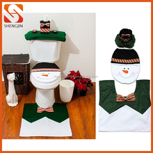 Merry Christmas snowman Toilet Seat and Tank Cover