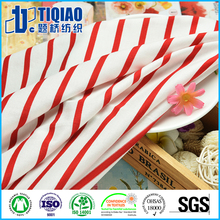 White and red striped navy design cotton fabric for t shirt