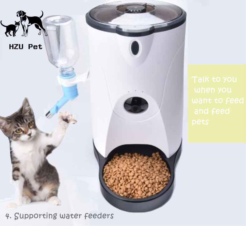 Smart Pet Water Food Automatic Feeder elevated pet feeder CCTV camera smart cat dog feeder with Water fountain