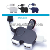 Mini Elephant Shape Usb 4 Port Hub