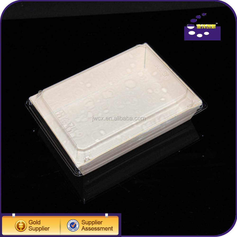 With high quality disposable paper food tray