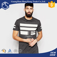 China Factory OEM 100% Cotton 180gsm Grey White Splice Fashionable Men wholesale brand t shirt