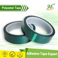 ISO9001&14001 Certified Dark Green Polyester Silicone Similar 3M 8992 Adhesive Tape For Powder Coating