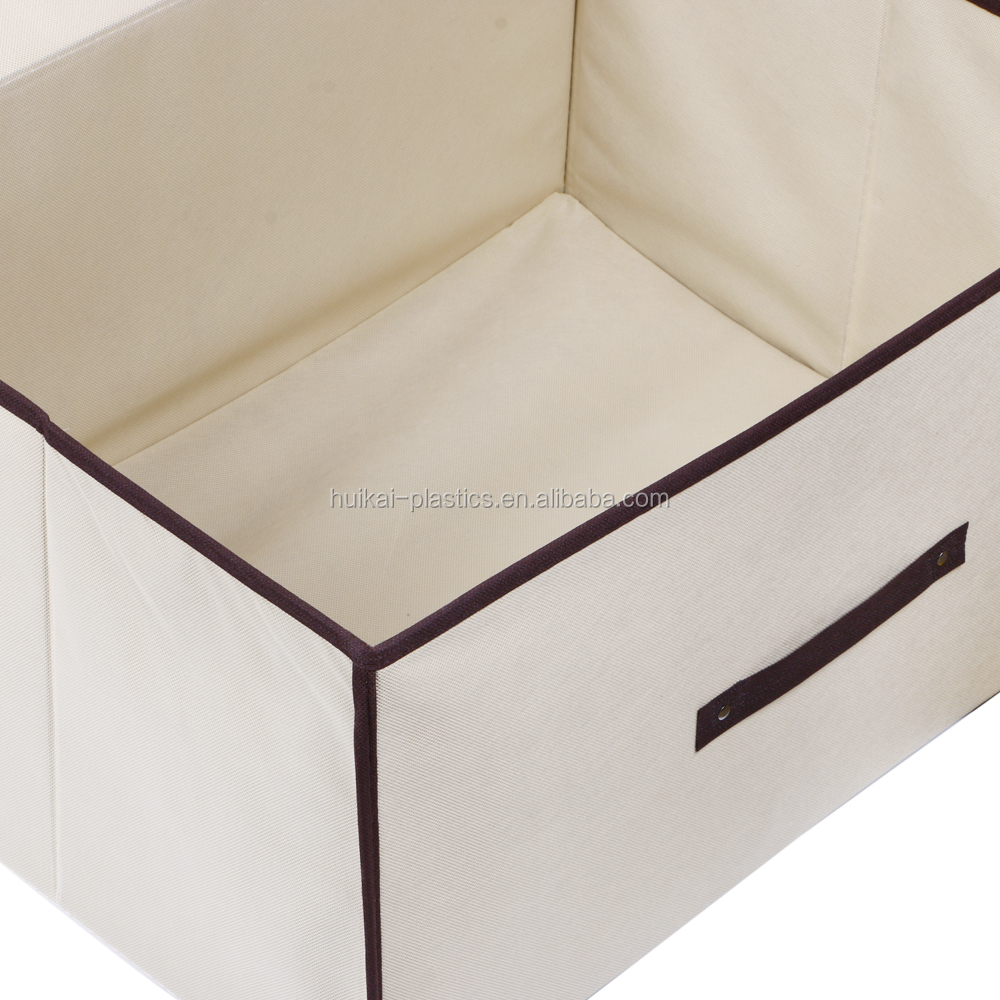 New design Customized Non woven Fabric collapsible storage box with lid