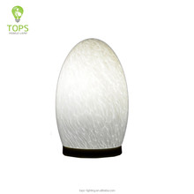 2016 new unique designed touch sensor azure stone shade office portable luminaire home goods modern table lamp