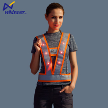 2016 Reflective lighted flashing led safety vest