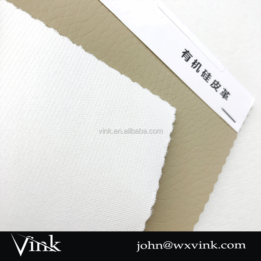 Pu artificial leather material organic fabric for car seat cover