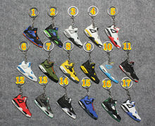 pvc rubber air jordan shoe keychain