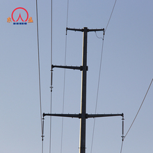 110KV electric aluminum utility poles with hot dip galvanized