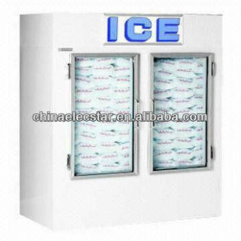 outdoor Ice Storage Bin and Ice Merchandiser with 60 Cubic Feet Capacity, CE Certified