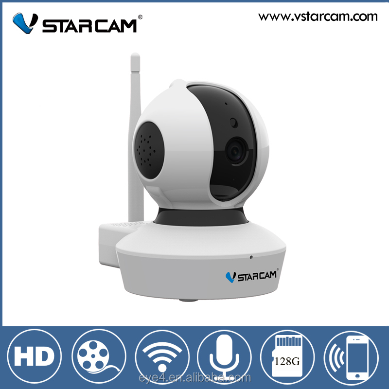 P2P Pan Tilt Remote Motion Detect Alert With Two-Way Audio Support 128GB Micro SD camara seguridad inalambrica