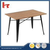 2017 The most popular wooden dining table metal dining table / metal chair metal legs