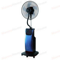 Pedestal fan with air cooler and water atomizer