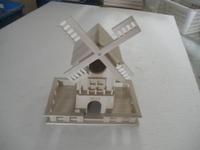 best seller and high quality wooden bied house with windmill on the top side