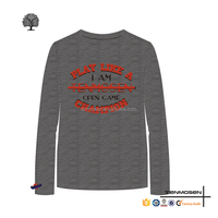 Mens long sleeve thermal shirts graphic tees design tight fit t shirt for men
