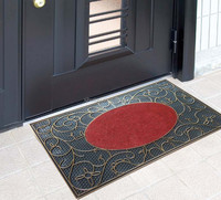 Dirt removing home entrance door floor mat PVC