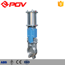 Pipeline flow stop 4 inch sluice Pneumatic Gate Valve