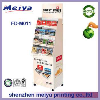 Promotion cardboard floor stand medicine display with wheels,cardboard medicine display stand for drugstore