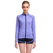 2017 Women Long Sleeve Zip Tops Jackets Womens Polyester Yoga Sportswear Ladies Custom Logo Running Sports Fashion Jacket