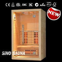 2 person infrared sauna spa with CE Canada hemlock portable slimming sauna parts