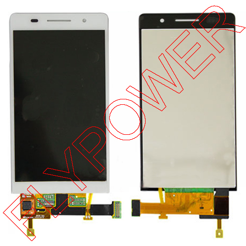 for huawei ascend p6 lcd and digitizer white color;5pcs/lot