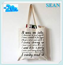 Large Most Popular Printed Cotton Burlap Shopping Tote Bag With Logo