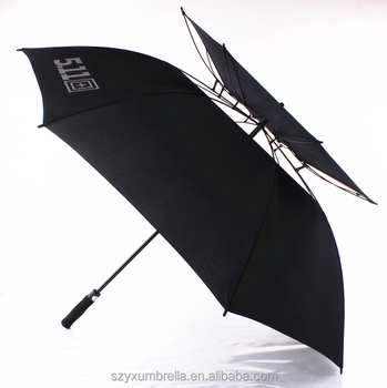 Fashionable men business umbrella oversize cheap umbrella double rib golf umbrella