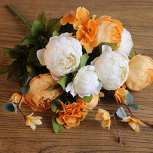 Factory direct flowers artificial plastic china artificial flowers wholesale silicone flowers artificial for wedding decoration