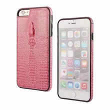 Factory Price Crocodile Design Leather Protective Back Phone Case for iPhone 7 Case