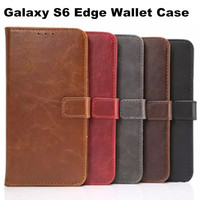 New Luxury High Quality PU Leather Wallet Stand Case Flip Smart Cover Mobile Phone Pouch For Samsung Galaxy S6 Edge G9250