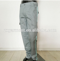 OEM mens heavy-duty cargo pocket work pants made of 100% cotton