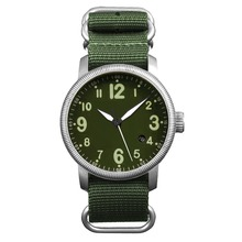 Men's Military Sport Warch Round Dail Nylon Strap Outdoor Waterproof Wrist Watch