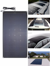PET or ETFE semi flexible solar panel 50w 100w marine yacht boat use