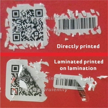 Custom security void barcode stickers with serials numbers, do not use if seal is broken destructible label sticker with barcode