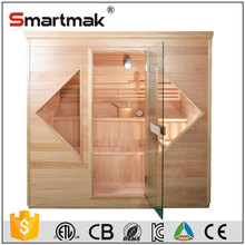 Canadian western red cedar lux steam shower room with touch screen control panel