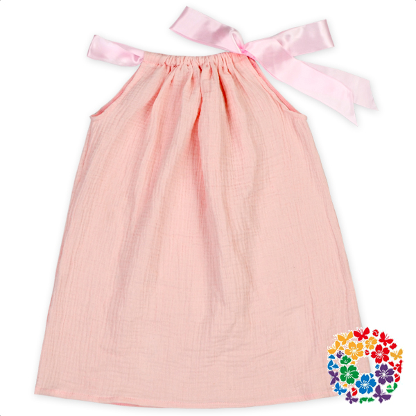 For Girls Pink Baby Dress Ribbon Bow Baby Girls Party Dress Design