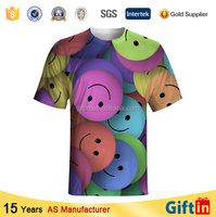 New technology product 100 polyester t shirts blank Mens fashion 3d printing t-shirts