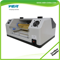 CE approved A4/A3 size auto digital hot foil stamping wedding invitation card printing machine