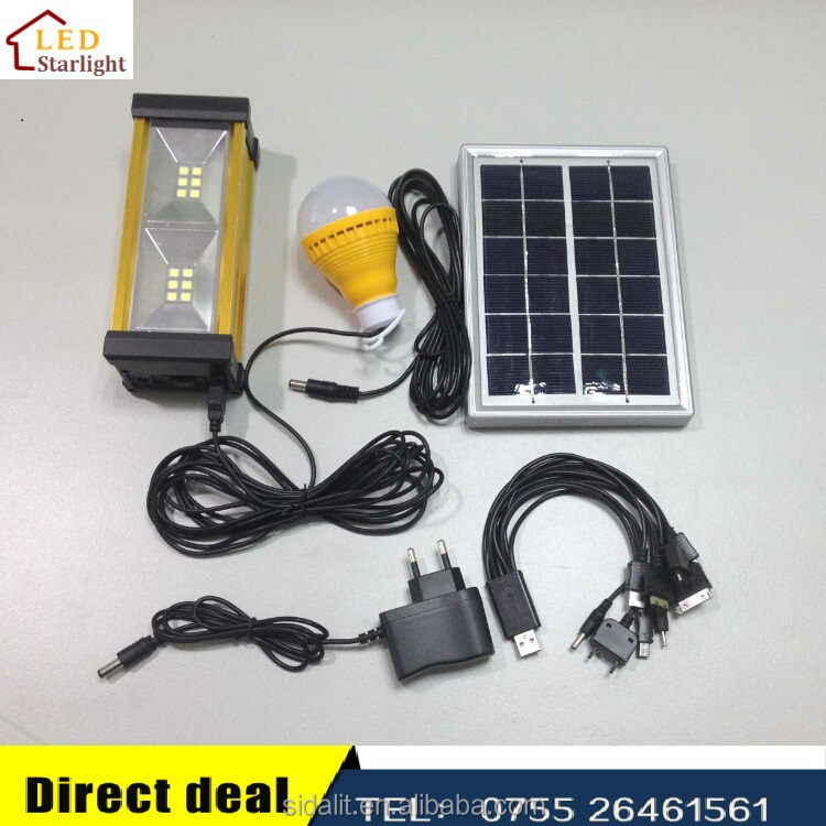LM-8899 rechargeable bright solar system kit
