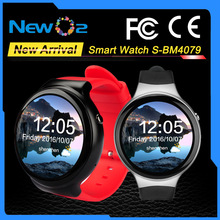 Real-time Heart Rate Google Play Map WIFI GPS 3G AMOLED Screen Pedometer Multi-language Smart Bluetooth Bracelet Watch