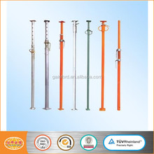 Adjustable height steel props / shoring jack post / pipe support for concrete formwork system
