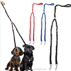 Soft No Tangle Dual Double Dog Bungee Lead Coupler fro Two Dogs