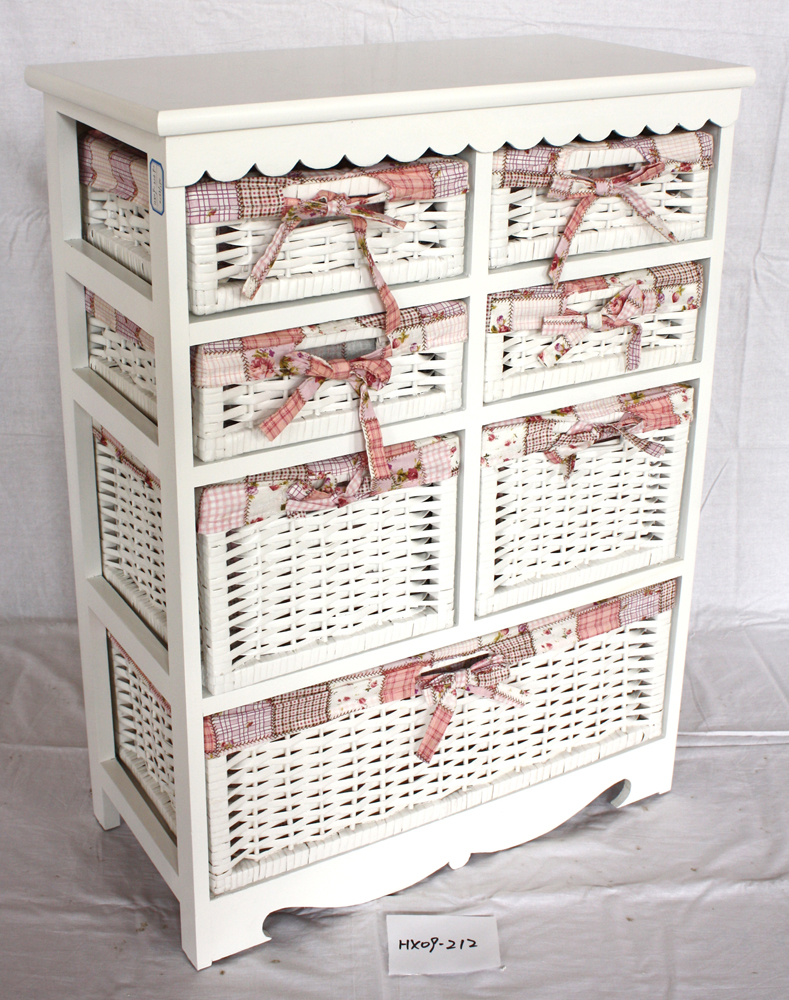 cajones de madera de mimbre blanco muebles shabby chic de del armario del gabinete muebles