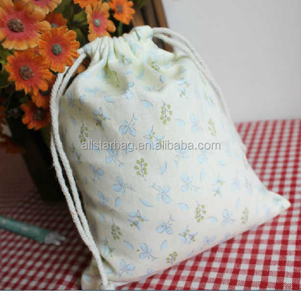 custom cotton promotional drawstring bag beige shoes matching bag personalized drawstring bags