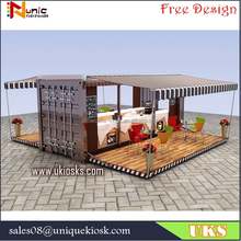 Outdoor container restaurant | container food restaurant design | shipping container coffee shop for sale