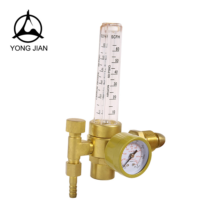 YJ-05A CO2 regulator with flowmeter ,British type argon gas flowmeter