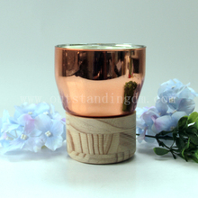 Glass Scented Candle In Candle Jars With Wooden Holder For Candle Wax Warmer
