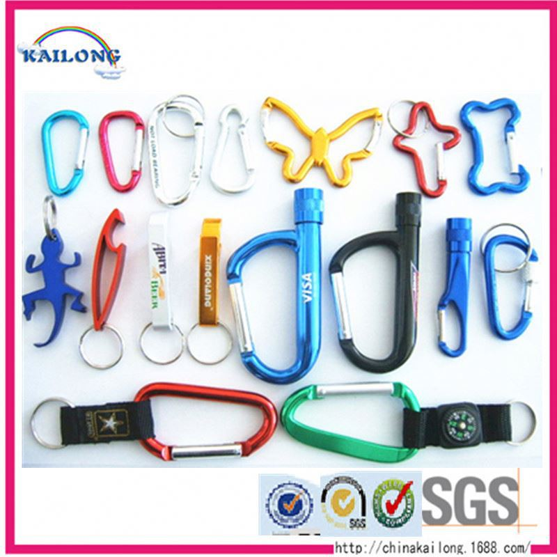 High Quality Custom Aluminum Wiregate Gear Carabiner For Bags