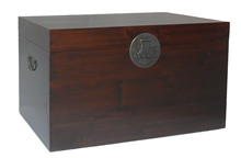 Antique reproduction furniture wooden trunk LWF045